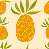Seamless pattern with pineapple Royalty Free Stock Photos