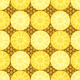 Seamless pattern with pineapple. Vector illustration Stock Images