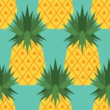 Seamless pattern with pineapples vector illustration