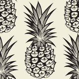 Seamless pattern with pineapples Stock Image