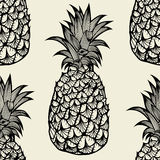 Seamless pattern with pineapples Royalty Free Stock Image