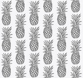 Seamless pattern with pineapples Stock Photography