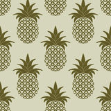 Seamless Pattern with Pineapples Royalty Free Stock Photos