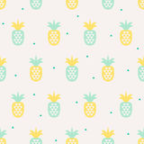 Seamless pattern with pineapples Stock Photo