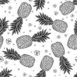 Seamless pattern with pineapples.  Vector illustration Stock Image