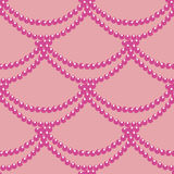 Seamless pattern with pink beads Royalty Free Stock Image
