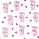 A seamless pattern with pink bear Stock Photography