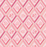 Seamless pattern with pink and beige diamonds Stock Images