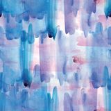 Seamless pattern of pink, blue and purple watercolor blots for background. stock images