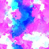 Seamless pattern of pink, blue and purple watercolor blots for background. Seamless pattern of pink, blue and purple watercolor blots on white background stock photos