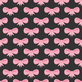 Seamless pattern with pink bows Royalty Free Stock Images