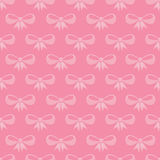 Seamless pattern with pink bows Royalty Free Stock Image