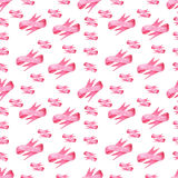 Seamless pattern of pink bows ribbon on white background Royalty Free Stock Photos