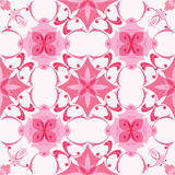 Seamless pattern in pink colors Stock Photo