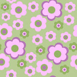 Seamless pattern with pink decorative flowers Stock Images