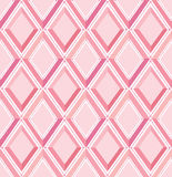 Seamless pattern: pink diamonds Stock Photos