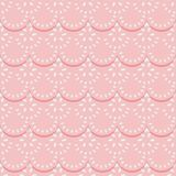 Seamless pattern of pink fabric lace ribbons. Stock Image