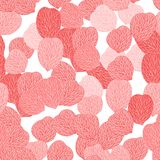 Seamless pattern of pink flower petals. Vector Stock Image