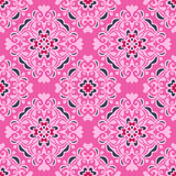 Seamless pattern pink flower vector design Stock Images