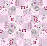 Seamless pattern - pink flowers Royalty Free Stock Image