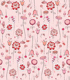 Seamless pattern - Pink flowers Royalty Free Stock Image