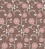Seamless pattern with pink flowers Stock Photography