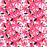 Seamless pattern of pink flowers Royalty Free Stock Photography