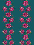 Seamless pattern with pink flowers Royalty Free Stock Images