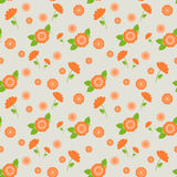 A seamless pattern with pink flowers of different sizes stock photography