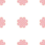 Seamless pattern of pink flowers Stock Photos