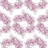Seamless pattern. Pink flowers lilac. Vector background banner. Seamless pattern. Pink flowers lilac. Vector background Stock Image