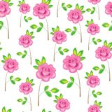 Seamless pattern. Pink flowers, roses. Suitable as wallpaper, as a gift wrapping for Valentine`s Day. Creates a festive mood. vector illustration