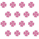 Seamless pattern with pink flowers. Vector illustration Stock Photos