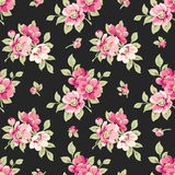 Seamless pattern with pink flowers. Vintage floral background Royalty Free Stock Images