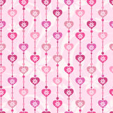 Seamless pattern with pink hearts Royalty Free Stock Photo