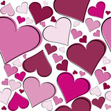 Seamless pattern with pink hearts Royalty Free Stock Images