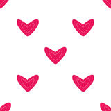 Seamless pattern with pink hearts Stock Image