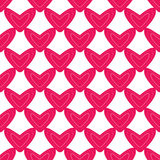 Seamless pattern with pink hearts Stock Photos