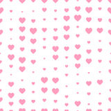 Seamless pattern with pink hearts. Decoration for Valentine`s day. Seamless pattern decoration with pink hearts for Valentine`s day design Stock Images