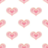 Seamless pattern of pink hearts. Stock Image