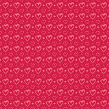Seamless pattern with pink hearts Royalty Free Stock Photography