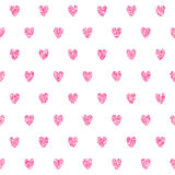 Seamless Pattern With Pink Hearts Royalty Free Stock Image