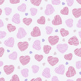 Seamless pattern with pink hearts, Valentine Day background. Abs Stock Image