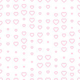 Seamless pattern with pink hearts. Valentine`s day decoration. Seamless pattern decoration with pink hearts for Valentine`s day Royalty Free Stock Photo
