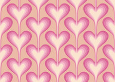 Seamless pattern with pink hearts. Royalty Free Stock Photo