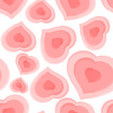 Seamless pattern from pink hearts. Vector illustration Royalty Free Stock Photos