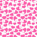 Seamless pattern. Pink hearts on a white Royalty Free Stock Images