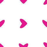 Seamless pattern with pink hearts Stock Photography