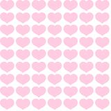 Seamless pattern from pink hearts on a white background Decorative ornament of hearts for design of templates greeting cards stock illustration