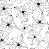 Seamless pattern with pink orchid,  Stock Image